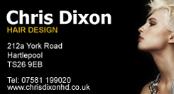 Chris Dixon Hair Design Card