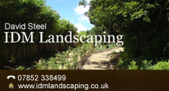 IDM Landscaping Business Card